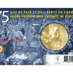 2.5€ commemorative belge commémorant 75 ans de paix et de liberté en Europe
