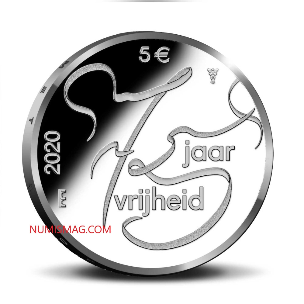 La Monnaie des Pays Bas célèbre 75 ans de paix et de liberté en Europe