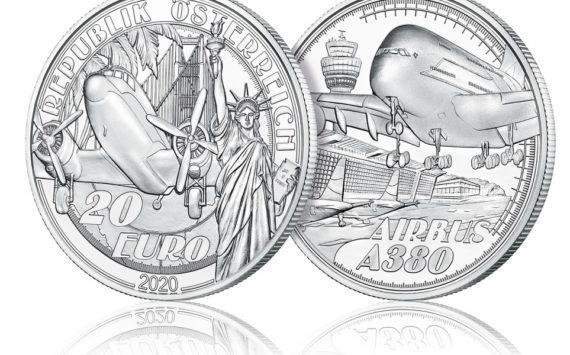 L'Autriche célèbre l'A380 avec une pièce en argent de 20€