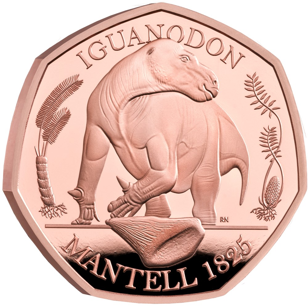 2020 50p Dynausauria series coins struck by Royal Mint