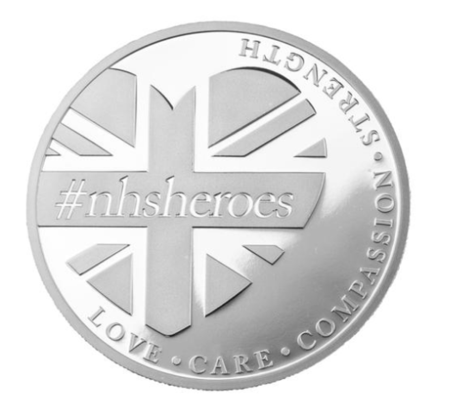"2020 ""nhs-heroes"" 1oz Silver coin: help NHS to cross over COVID19 pandemy!"
