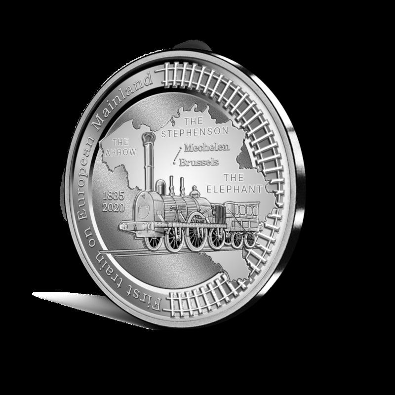5€ belge 2020 - 185eme anniversaire du premier train sur le continent