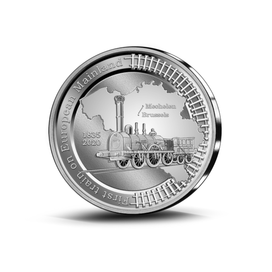 2020 belgian €5 silver celebrates first continental european train