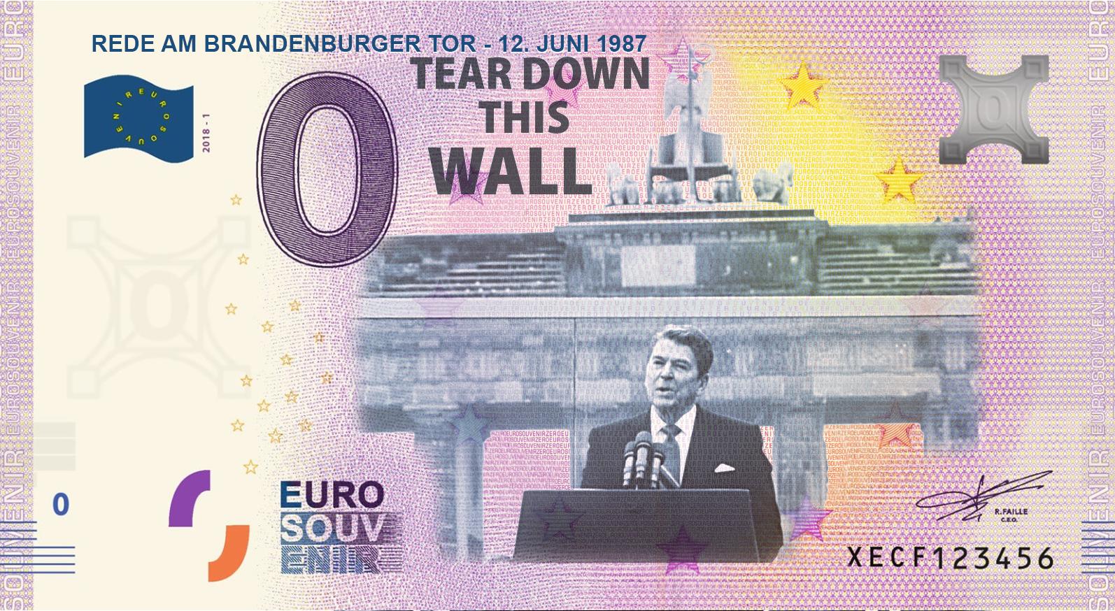 MDM's album of zero euro banknotes - 30 years of German Refunded unity