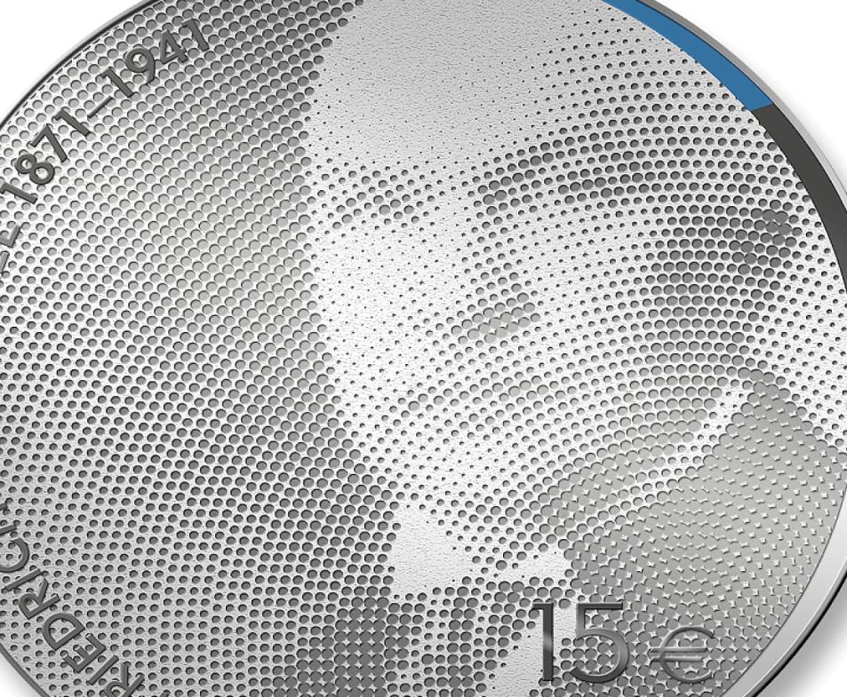 15€ estonienne 2021 dédiée à Friedrich Karl Akel