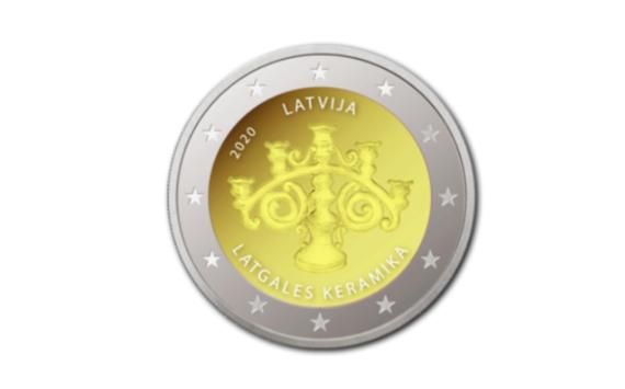 2 euro commémorative et coffret annuel BU 2020 de la Lettonie