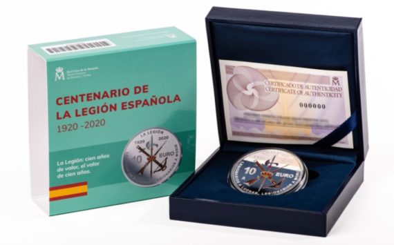 Spain issued a coin celebrating 100th  Anniversary of Spanish Legion