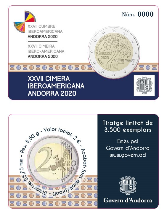 Programme numismatique 2020 de la principauté d'Andorre