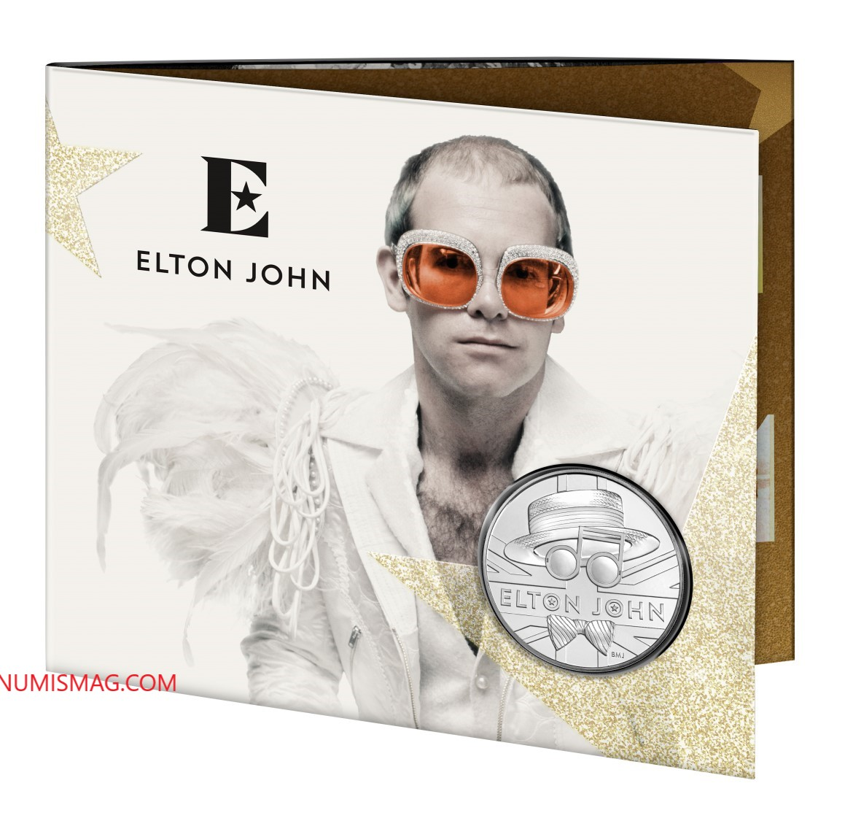 2020 commemorative coins celebrating Elton JOHN's career by Royal Mint