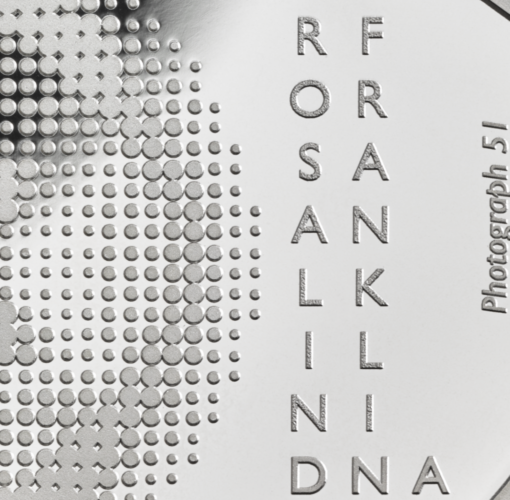 2020 50 pence dedicated to scientist Rosalind FRANKLIN