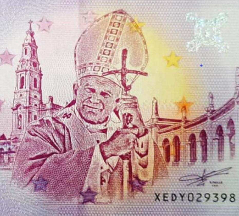 Billet zéro euro 2020 dédié au pape Jean Paul II