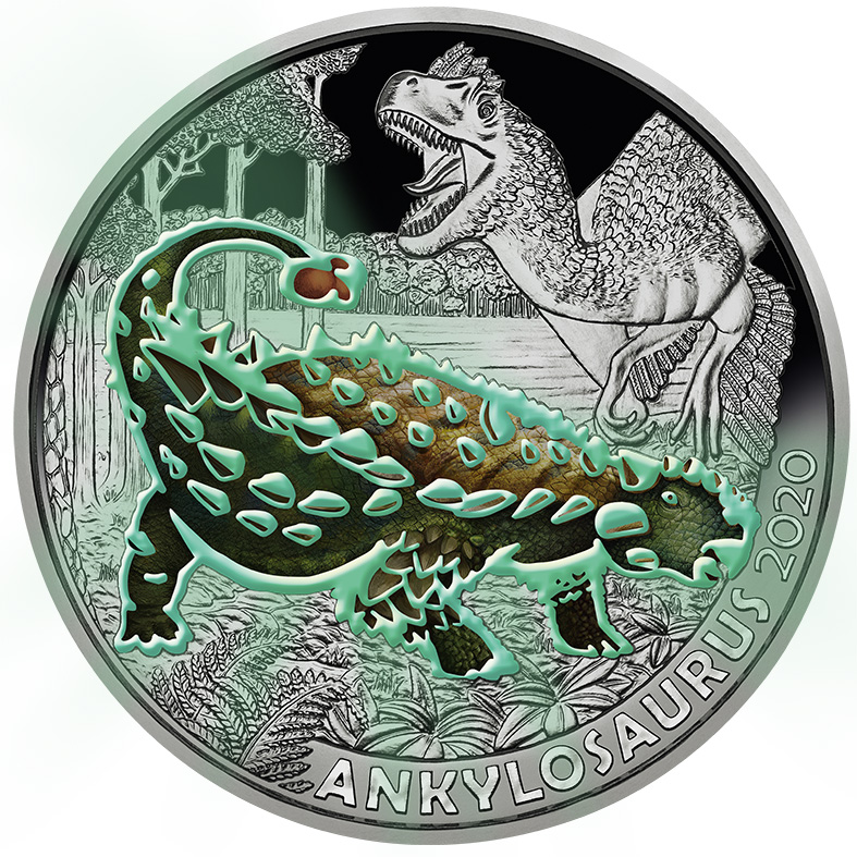 L'austrian Mint célèbre l'Ankylosaurus magniventris en 2020