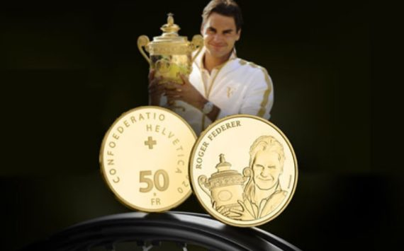 2020 last swiss numismatic issues – Gold for R. FEDERER