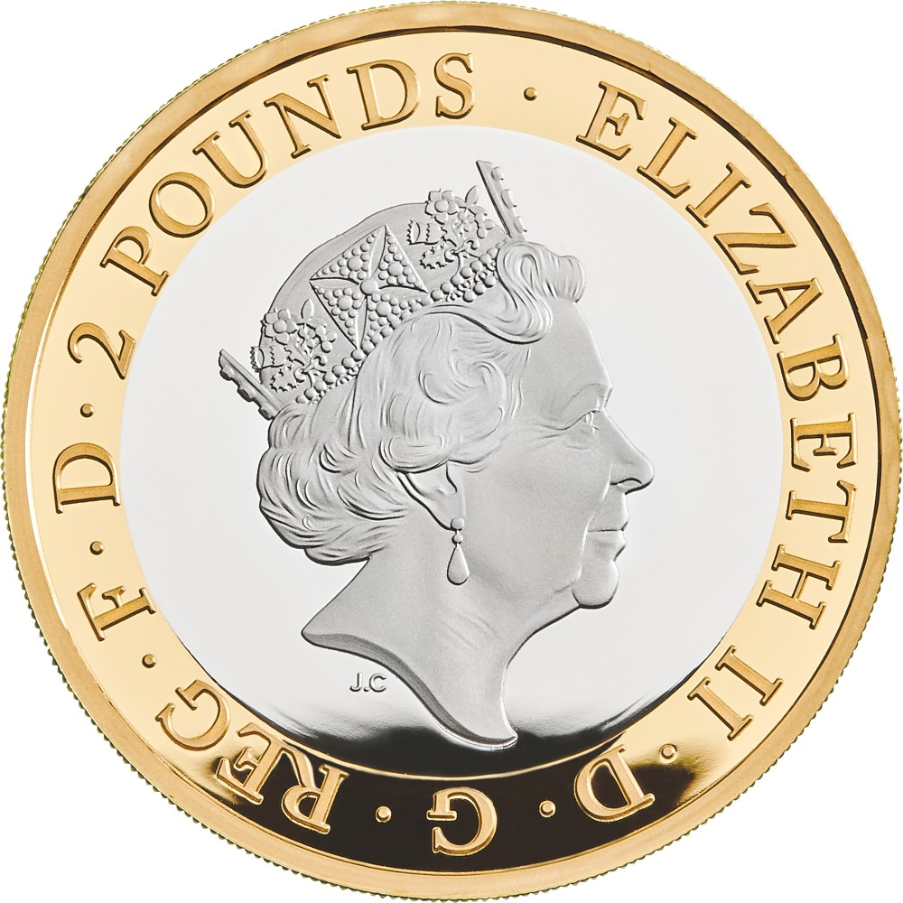 "2020 £2 commemorative coin ""100 years of Mystery"" from Royal Mint"