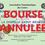 La bourse numismatique 2020 d'ORLEANS annulée