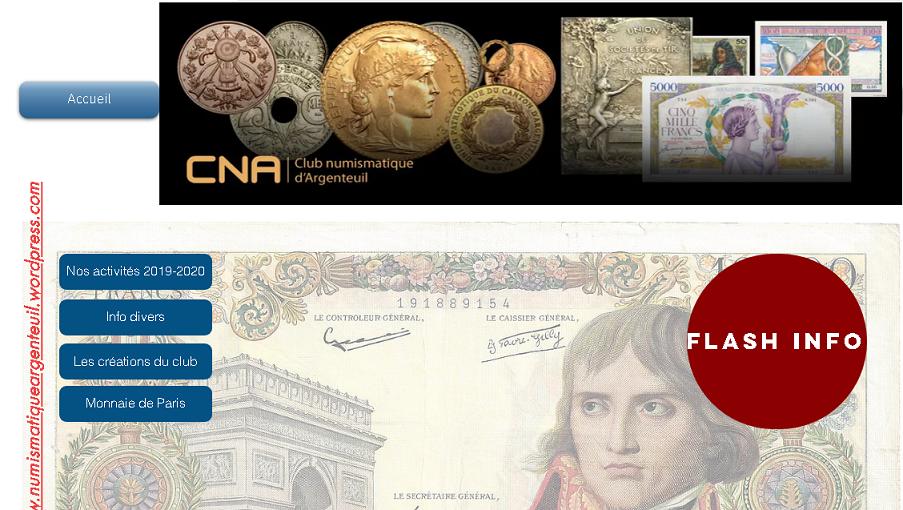 Bourse numismatique d'Argenteuil 2021 - la Mairie change la date