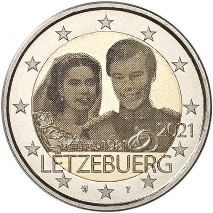 Programme numismatique 2021 du Luxembourg