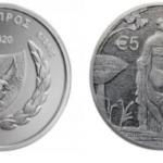 """5€ en argent Chypriote 2020: """"Leda et le cygne"""""""