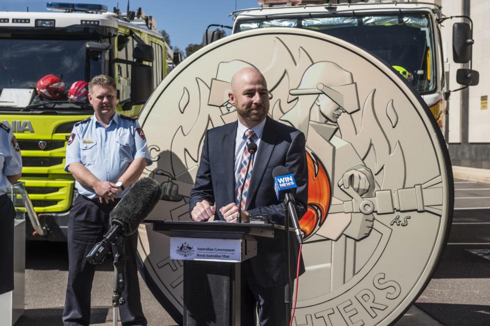 La Royal Australian Mint honore les pompiers australiens avec une pièce colorisée