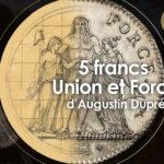 pièce de 5 francs Union et Force 1796