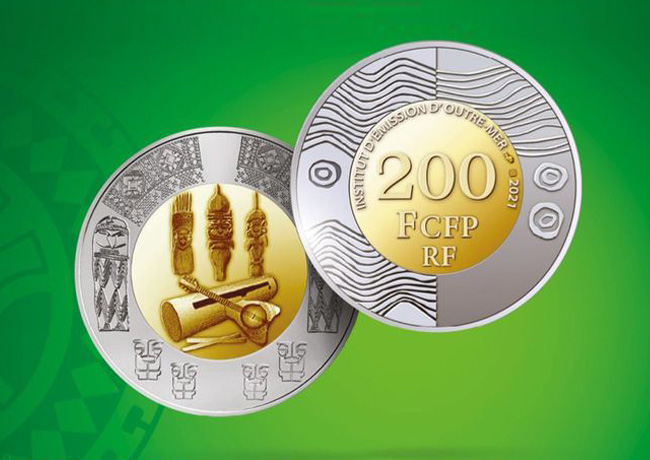 In 2021 a 200 francs coin from French Overseas Issuing Institute (IEOM)