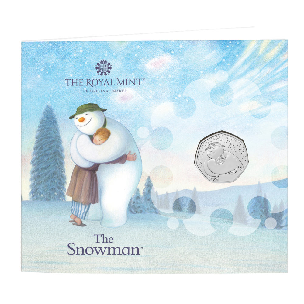 2020 snowman coin from Royal Mint
