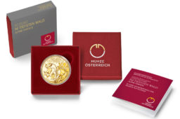 2021 austrian Alpine Forests dedicated gold coin