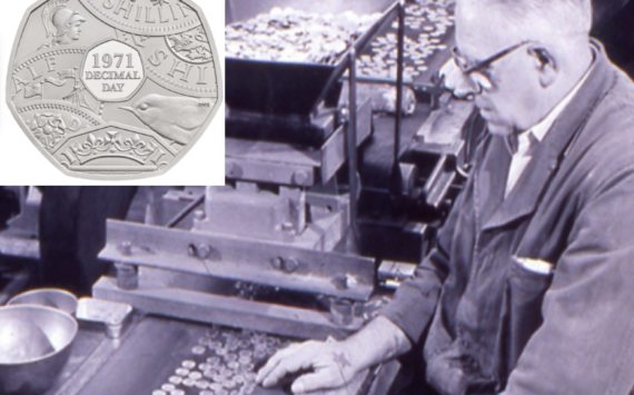 "2021 50 pence 50th anniversary of ""decimal day"", from Royal Mint"