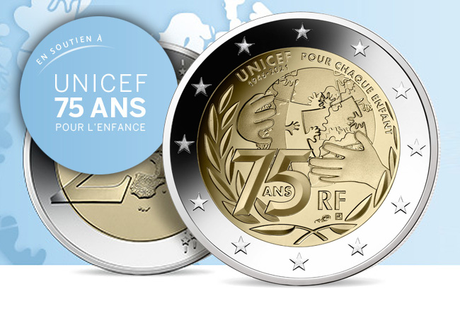 2021 €2 commemorative coin dedicated to UNICEF