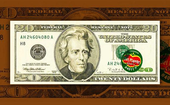 Le prix d'un billet de 20 dollars s'envoleà cause d'une étiquette de banane Del Monte