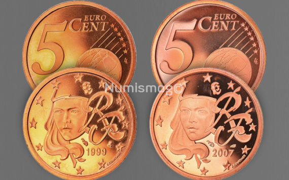 Tirages et Valeurs des pièces de 5 centimes d'euro, 5 cents, France – pièces de circulations, BU, BE