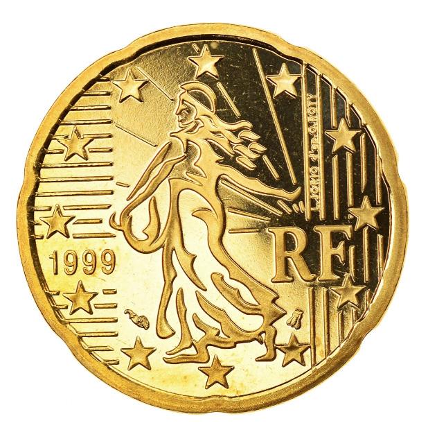 Tirages et Valeurs des pièces de 20centimesd'euro, 20cents, France - pièces de circulations, BU, BE