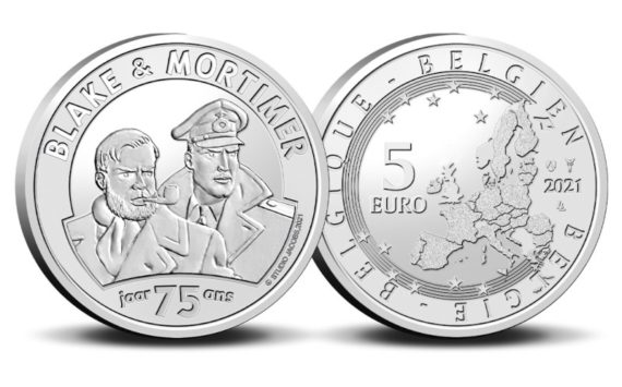 La monnaie royale de Belgique célèbre Blake et Mortimer en 2021