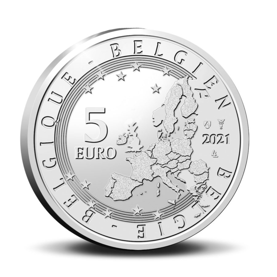 5€ 2021 de la Belgique: Charles VAN DEPOELE