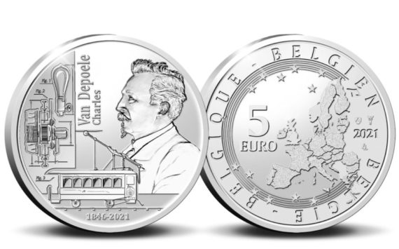 2021 belgian €5 dedicated to Charles VAN DEPOELE