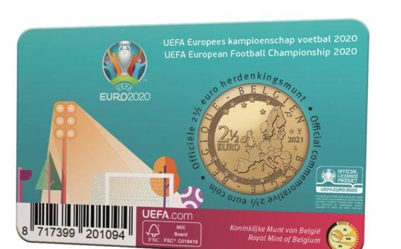 Belgian 2021 €2.5 celebrating UEFA championship
