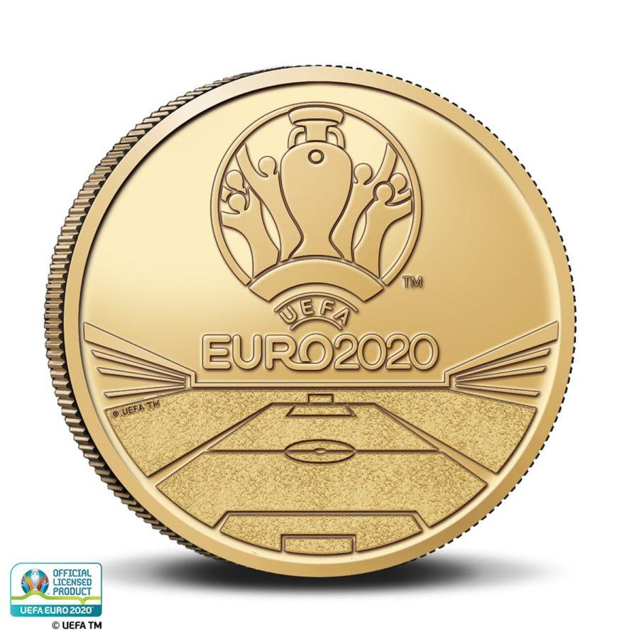 2.5€ 2021 belge célébrant l'UEFA