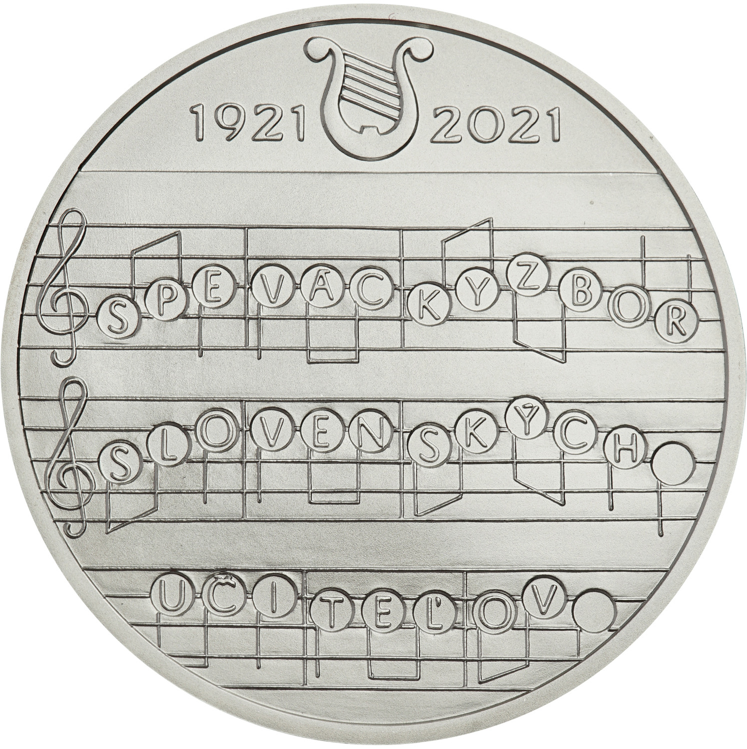 2021 €10 Silver coins - 100th anniversary of the Slovak Teachers' Choir