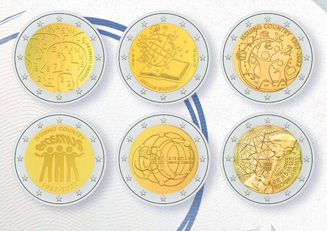2€ Erasmus 2022 Commémoration du 35e anniversaire d'Erasmus – Concours