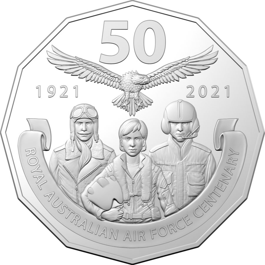 2021 coin collection celebrating the centenary of RAAF by RAM