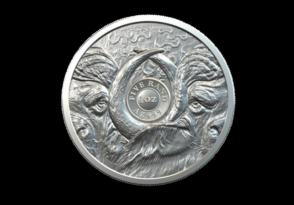 Les pièces 2021 de la Monnaie d'Afrique du Sud célébrant le buffle