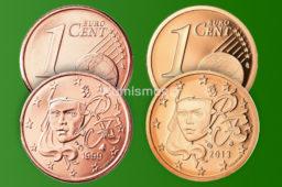 Tirages et Valeurs des pièces de 1 centime d'euro, 1 cent, France – pièces de circulations, BU, BE