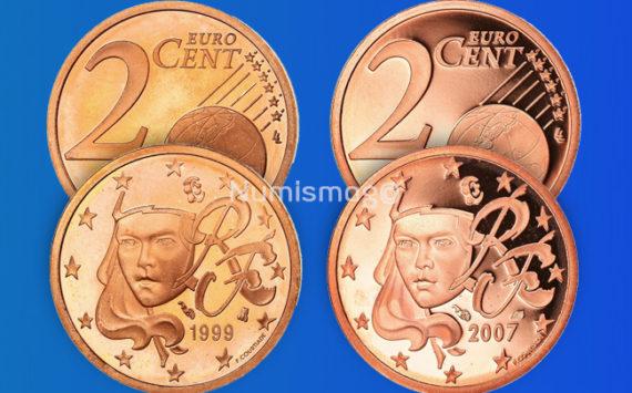 Tirages et Valeurs des pièces de 2 centimes d'euro, 2 cents, France – pièces de circulations, BU, BE