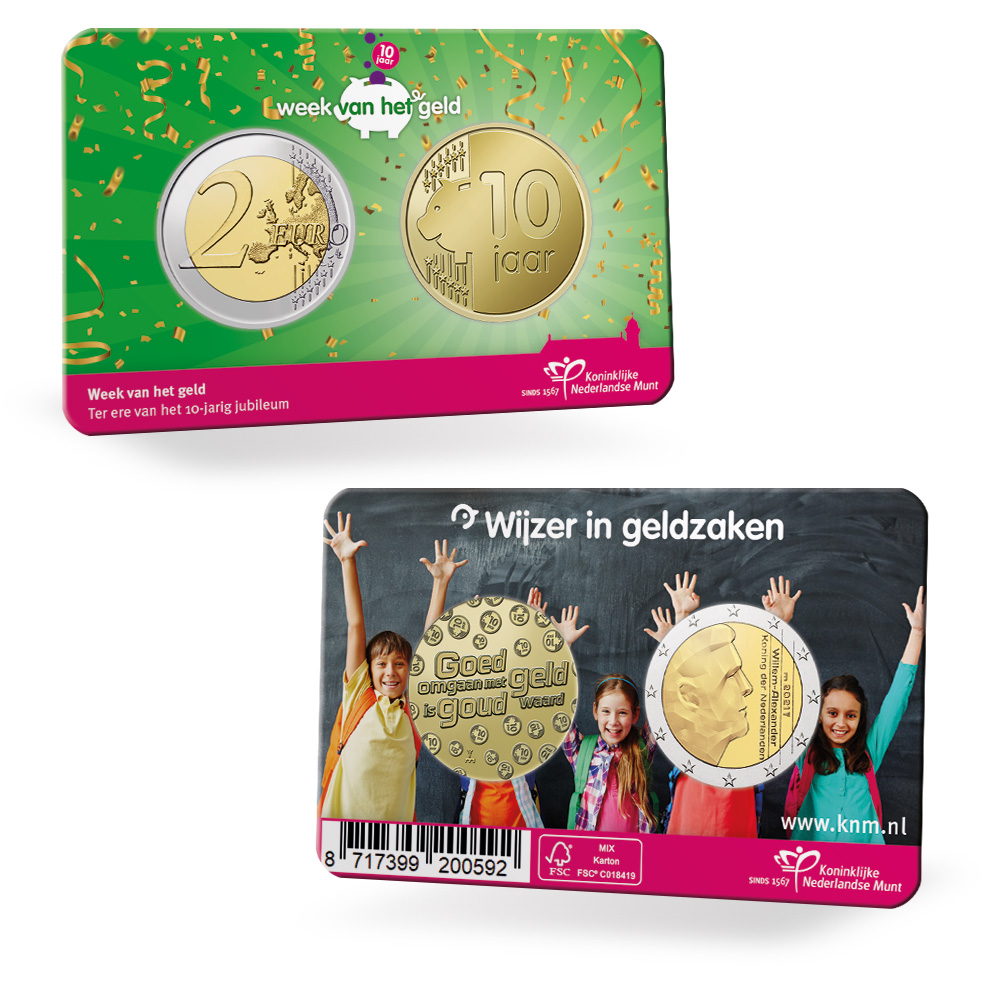 2021 National Money Week coincard from the Netherlands