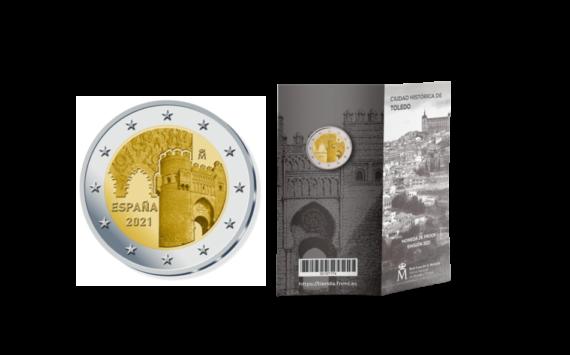 La 2€ BE 2021 espagnole «Tolede» est annoncée par la FNMT