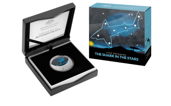 Le requin étoilé 2021 de la Monnaie d'Australie