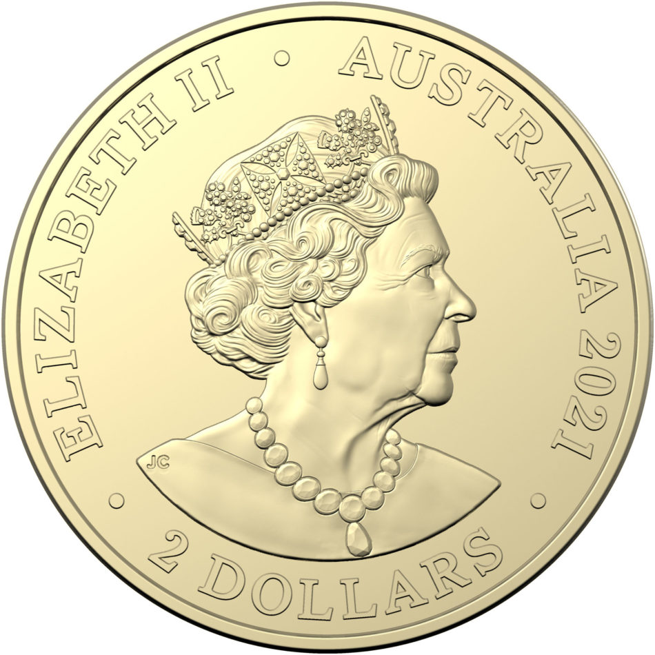 "2021 AUD 2 ""Indigenous Military Service"" coin struck by RAM"