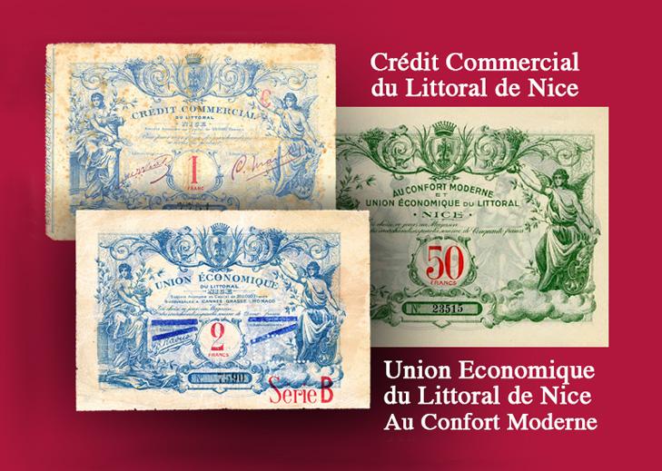 PROVENCE, ALPES, COTE D'AZUR – Les bons de l'Union économique du littoral de Nice – Catalogue et cotation