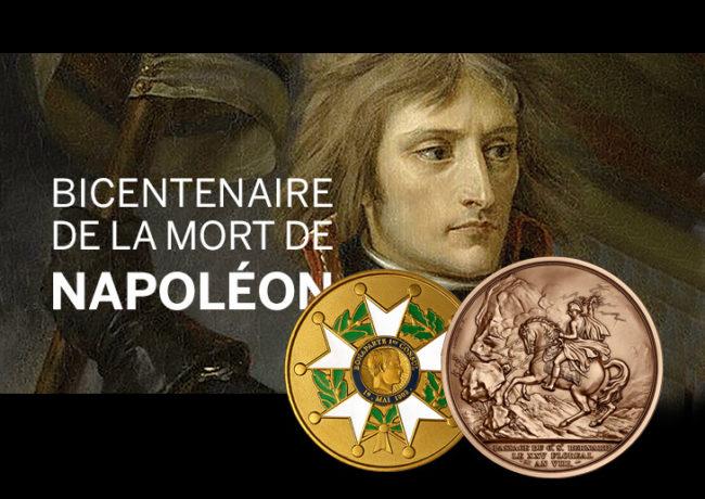 MÉDAILLES NAPOLÉON 1ER – BICENTENAIRE DE SA DISPARITION 1821/2021