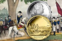Pièces 10 euros argent et 50 euros Or Washington devant Boston – Série Histoire de l'Humanité 2021